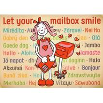 Let your mailbox smile - Postcard