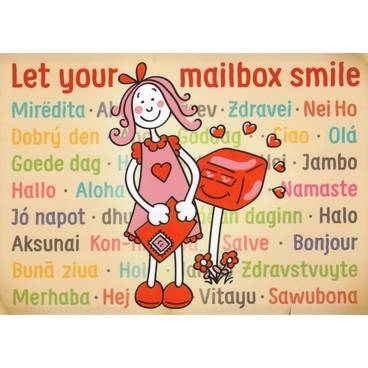 postcards sayings quotes let your mailbox smile postcard