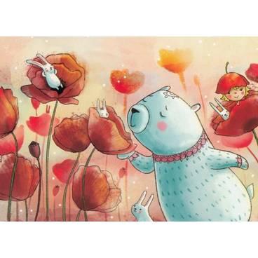 Duftende Mohnblumen - Smirnova - Postkarte