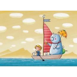Boat trip - Smirnova - Postcard
