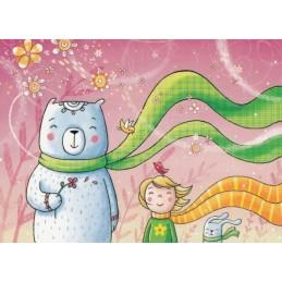 Ija und Jan im Wind - Smirnova - Postkarte