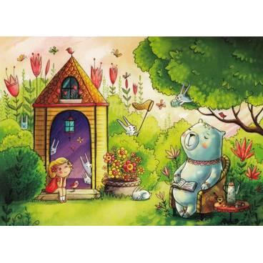 Ija und Jan im Garten - Smirnova - Postkarte