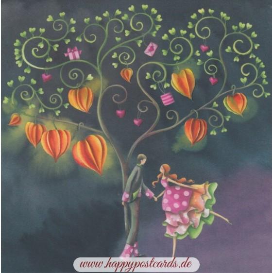 Tanz unterm Baum - Nina Chen Postkarte