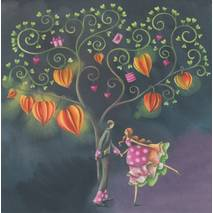 Dancing under a tree - Nina Chen Postcard