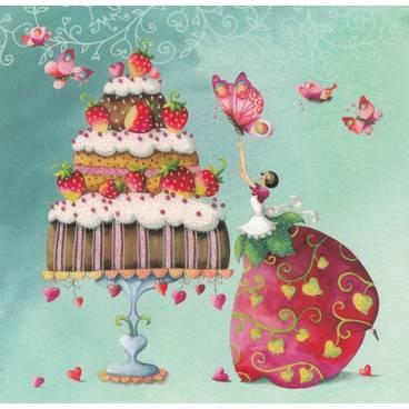 Sommertorte - Nina Chen Postkarte