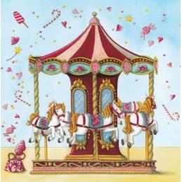 Pferdekarussell - Nina Chen Postkarte