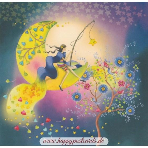 Mondschein - Nina Chen Postkarte