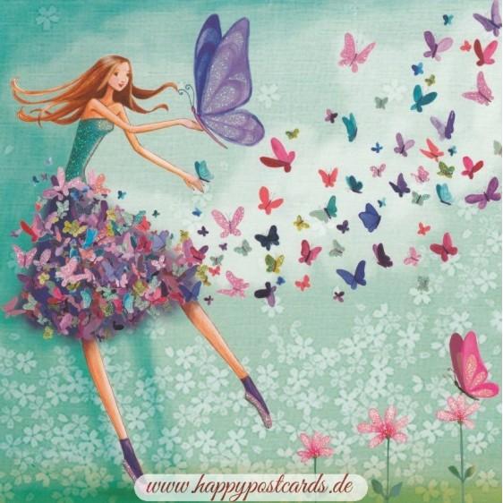 Butterflywoman - Mila Marquis Postcard