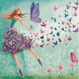 Schmetterlingsmädchen - Mila Marquis Postkarte