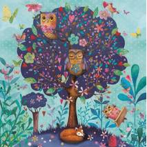 Tree with owls - Mila Marquis Postcard