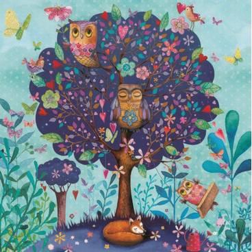Eulenbaum - Mila Marquis Postkarte