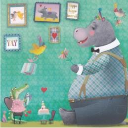 Hippo Birthday - Mila Marquis Postcard