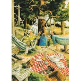 14 - Frauen in Hängematten - Postkarte