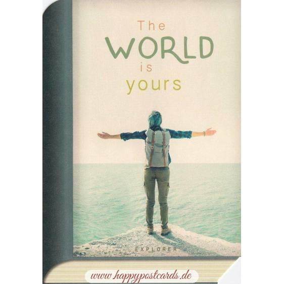 The world is yours - BookCARD