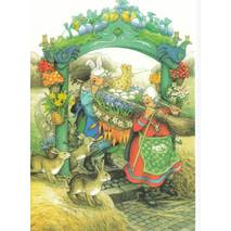 38 - Old Ladies decorating for Easter - Postcard