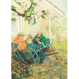 04 - Frauen beim Kartenspielen - Löök Postkarte