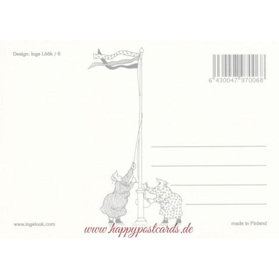 06 - Frauen beim Minigolfen mit Spazierstöcken - Postkarte