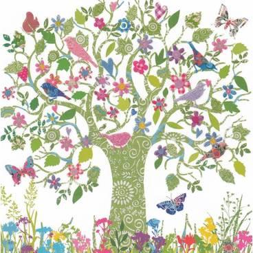 Baum mit Vögeln - Carola Pabst Postkarte