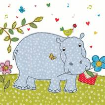 Hippo with a letter - Carola Pabst Postcard
