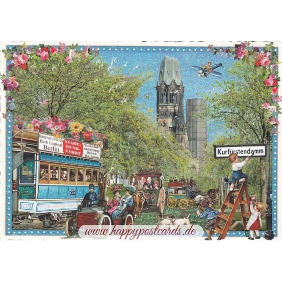 Berlin - Ku'damm - Tausendschön - Postkarte