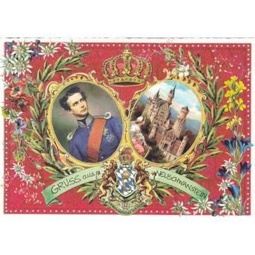 Schloss Neuschwanstein - Ludwig II - Tausendschön - Postkarte
