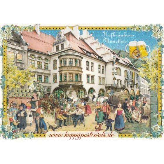 München - Hofbräuhaus Tausendschön - Postkarte