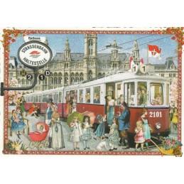 Wien, Trambahn - Tausendschön - Postkarte