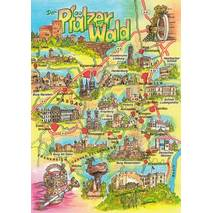Palatinate forest - Map - Postcard