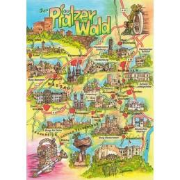 Palatinate forest - Map - Postcard