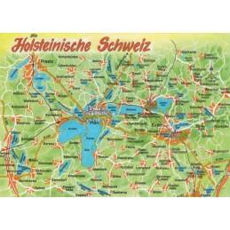 Holsteinische Schweiz - Map - Postcard