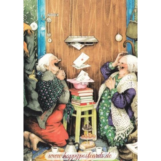 23 - Frauen vor dem Briefkasten
