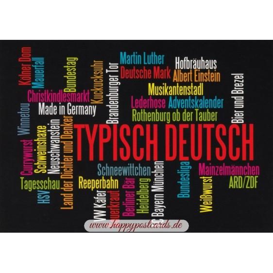 Typisch Deutsch - Wörterkarte