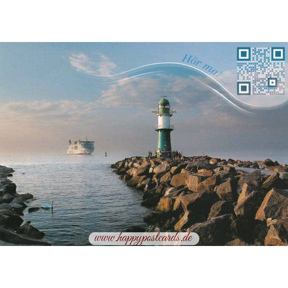 Ferryboat and lighthouse - Sound-Card