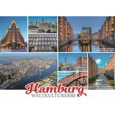Hamburg Multi - Ansichtskarte