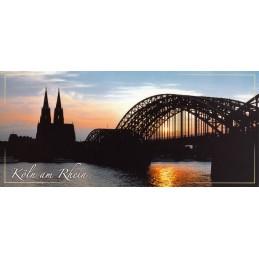 Köln - Dom - Hohenzollernbrücke - Panoramakarte