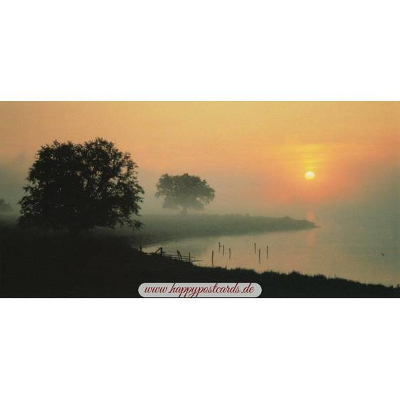 Morninglight in Mecklenburg - Panoramacard