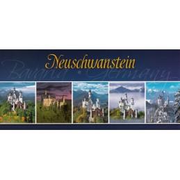 Castle Neuschwanstein Panoramapostcard