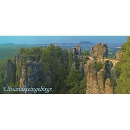 Elbe Sandstone Mountains - Bastei bridge - Panoramapostcard