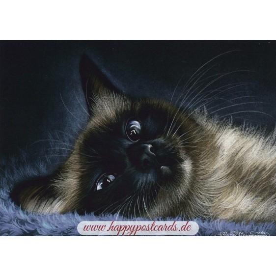 Blickkontakt - Garmashova Postkarte