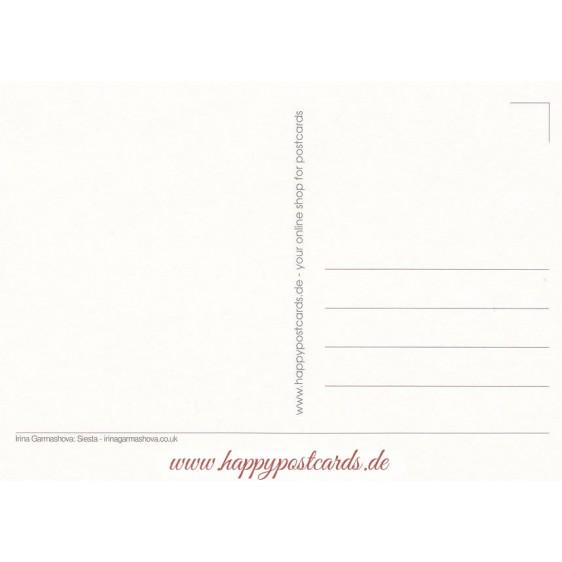 Siesta - Garmashova Postkarte