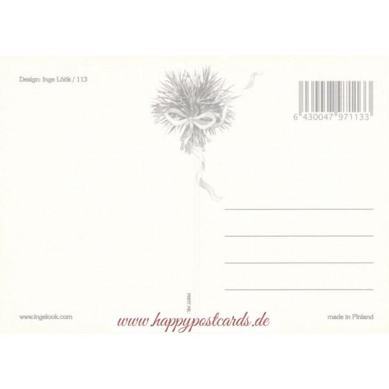 113 - Katze in Blumen - Löök Postkarte