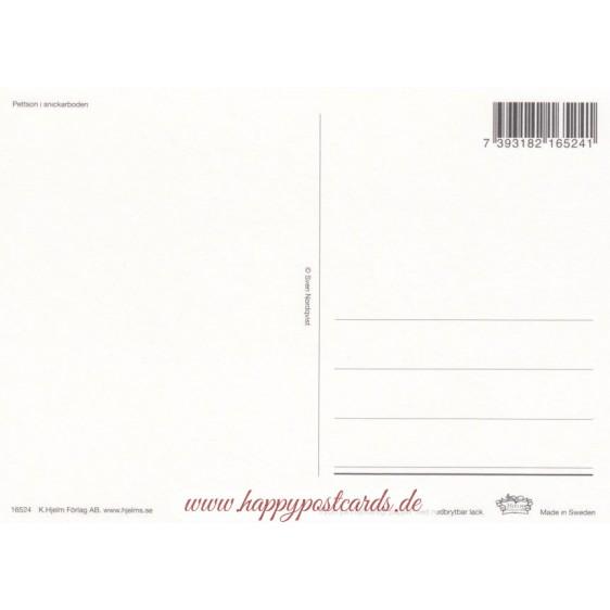 Pettersson in der Werkstatt - Pettersson Postkarte