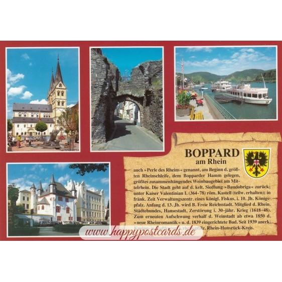 Boppard am Rhein - Chronikkarte