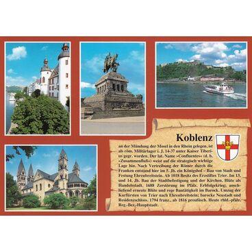 Koblenz - Chronikkarte