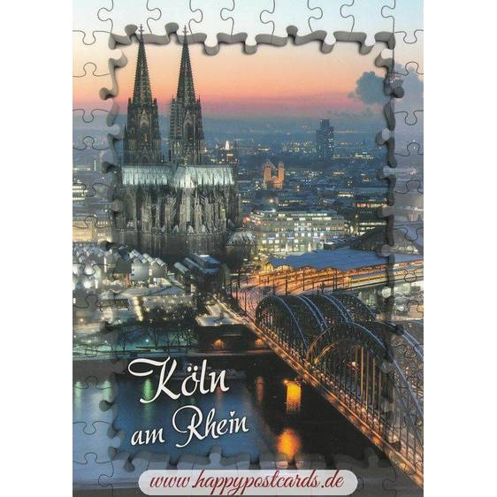 Puzzleborder - Cologne Cathedral - Viewcard