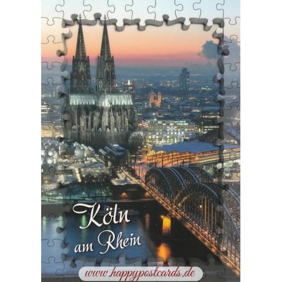 Puzzlerand-Köln Dom - Ansichtskarte