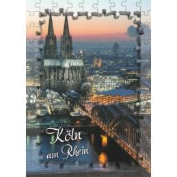 Puzzlerand - Köln Dom - Ansichtskarte