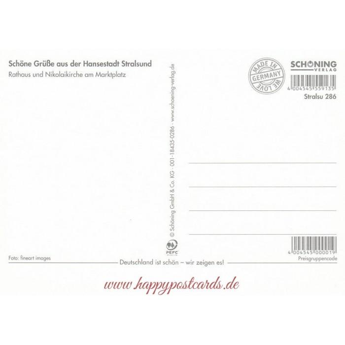 Card Verlag Weihnachtskarten.Viewcards Unesco Worldheritage Stralsund Town Hall