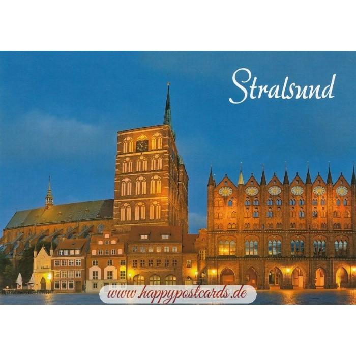 Card Verlag Weihnachtskarten.Stralsund Town Hall Nikolaikirche Viewcard