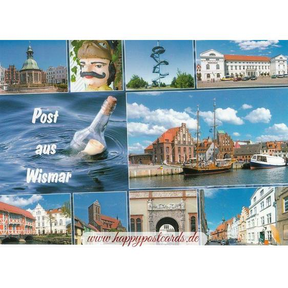 Mail from Wismar - Viewcard